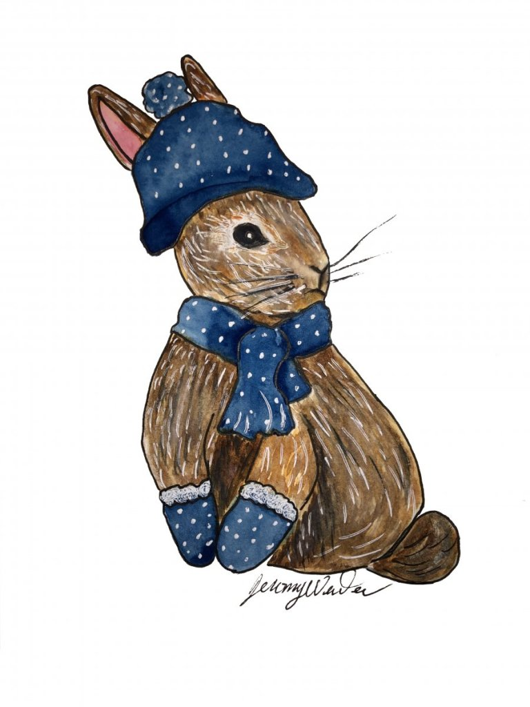 Snowbunny Having so much fun painting and posting to Doodlewash. I am trying to learn all about the