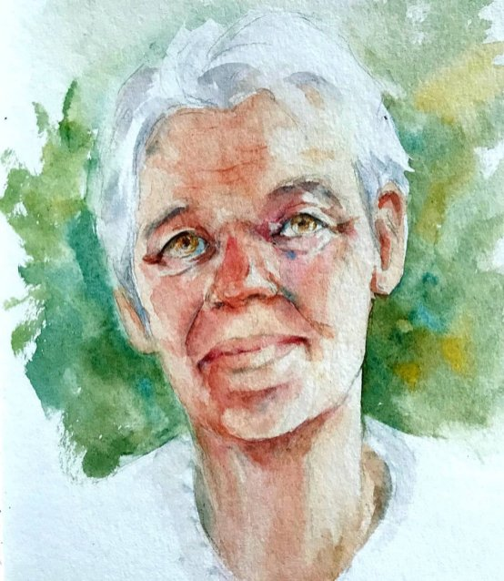 Watercolor Portrait by Milena Guberinic