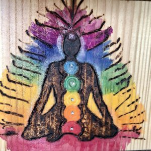 #chakra #watercolor (pencils & paint) #inktense # pencils washed on wood with #Alcohol/water #sk