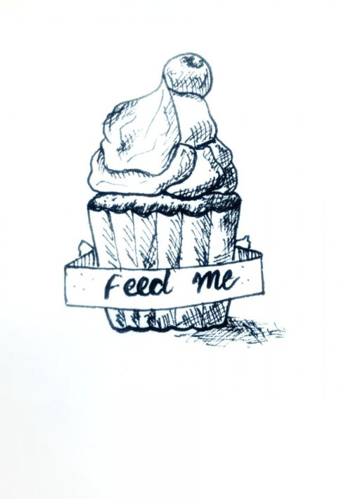 Feed Me Drawing Cupcake