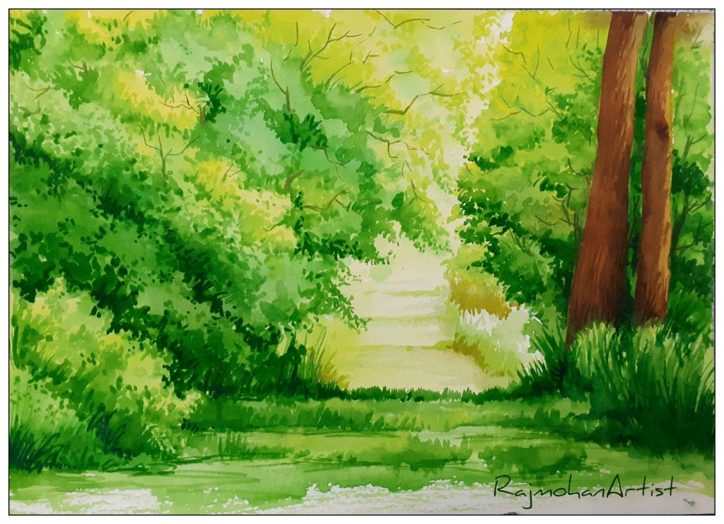2019 series watercolor.. LakeviewGreenscape-3703×2681