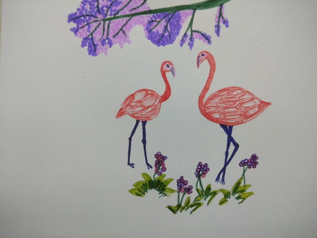 Flamingo #doodlewashJanuary2020 IMG_20200107_142411