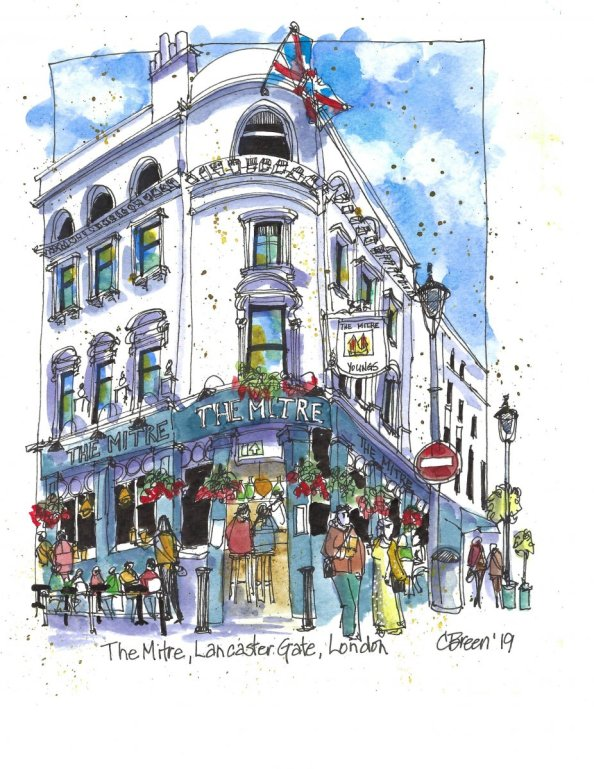 The Mitre Lancaster Gate London Drawing