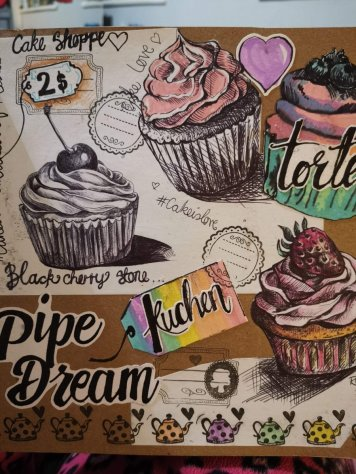 Art Journal Cupcakes Journal Page Elise Richards