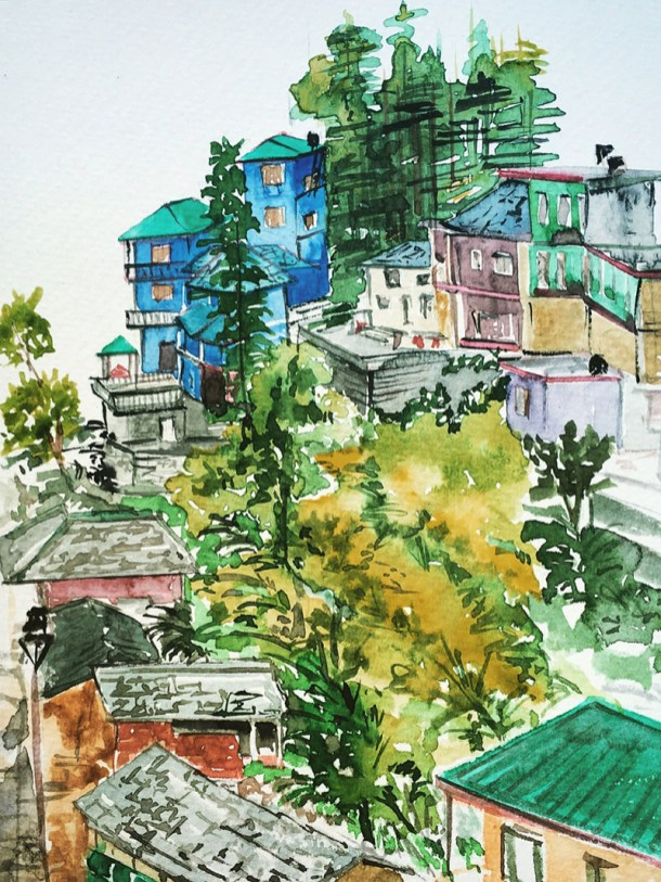 Urban Sketching Watercolor by Patanjali Bhati