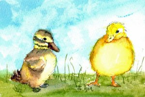 3/26/20 Duckling Had a total brain freeze on drawing a duckling and resorted to googling online tuto