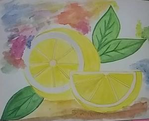 Lemon 🍋 watercolor painting.. 🖌️🖌️🎨 #doodlewashmarch20