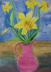 Daffodils watercolor painting #doodlewashmarch2020 #worldwatercolorgroup #doodlewash #watercolorpain