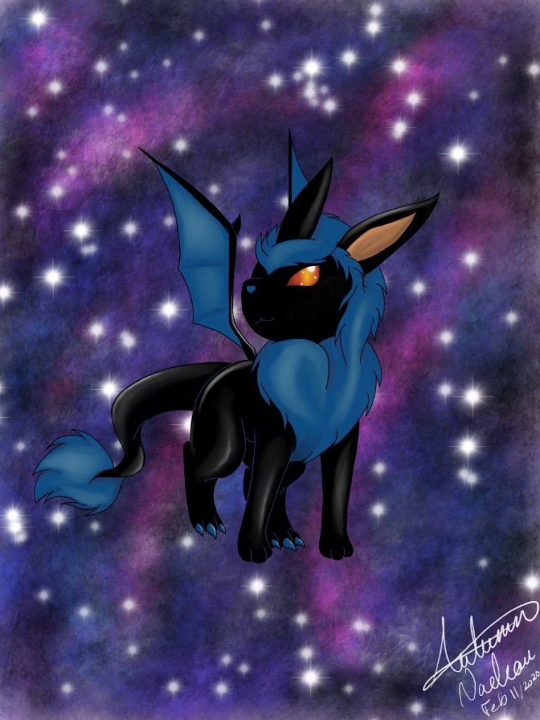 About 5 years agoI started my own version of Pokémon Eevee evolutions so this is my Dragon typing E