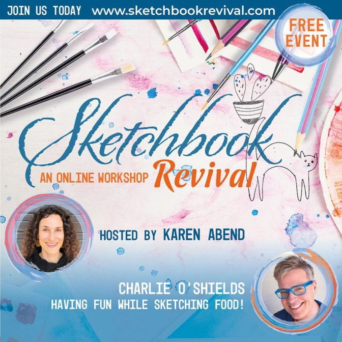 Sketchbook Revival Workshop 2020 Graphic Karen Abend Charlie O'Shields