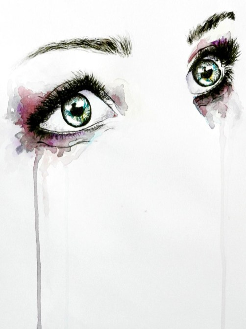 Eyes Watercolor Painting by Irma Rianne