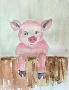 #doodlewashmarch2020 day 28 piglet IMG_1693