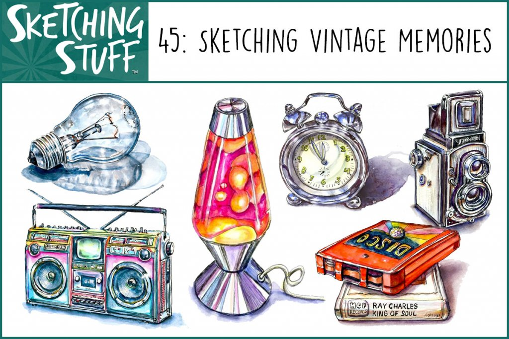 Sketching Stuff Episode 45 Sketching Vintage Memories Album Art