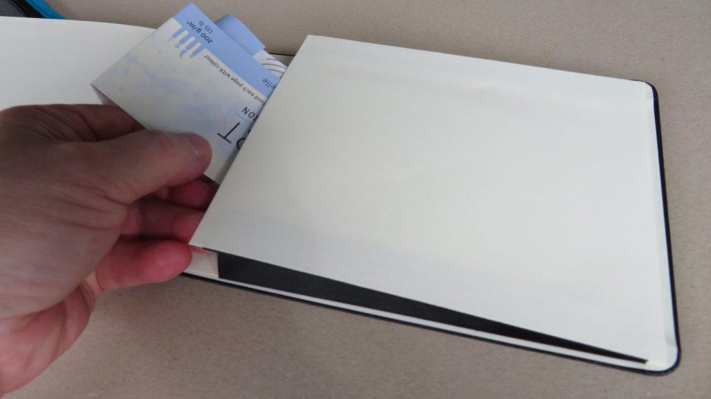 Moleskine Watercolor Sketchbook Interior Pocket