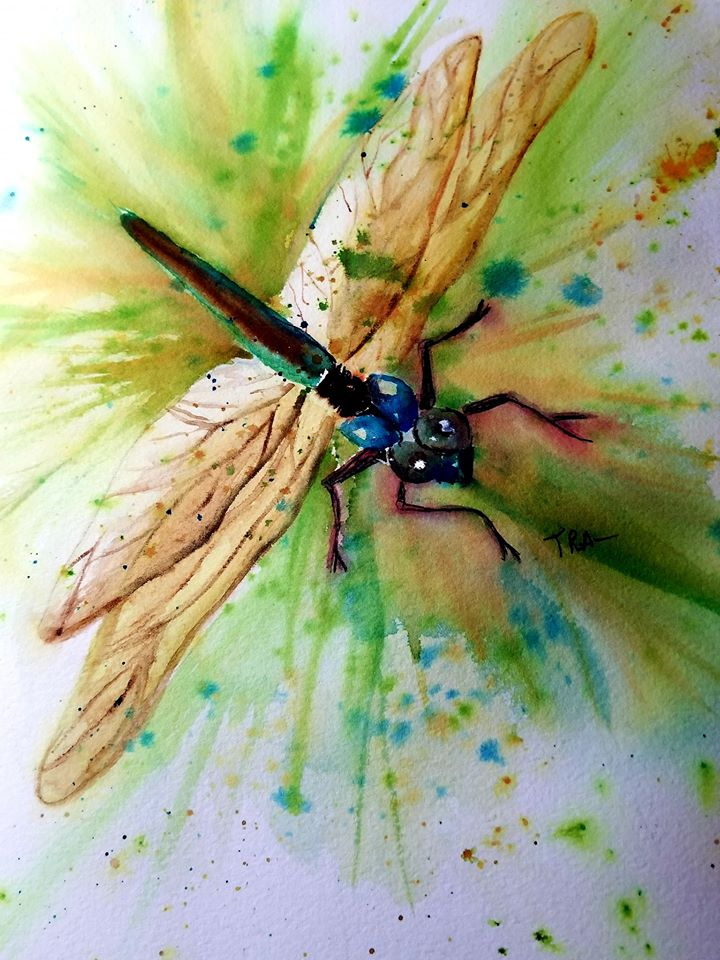 #doodlewashmarch2020 Watercolor Title: Dragonfly me dragonfly