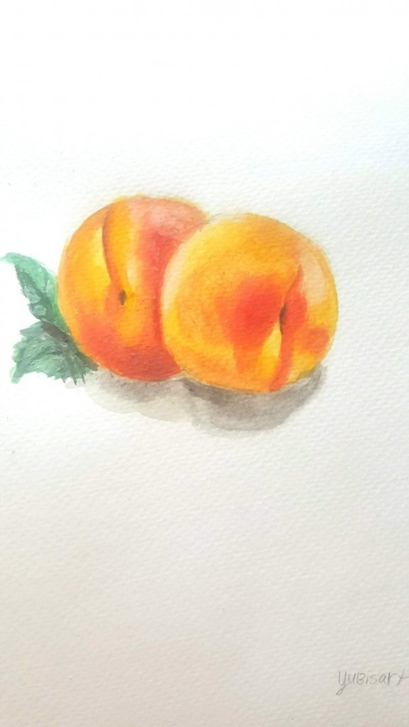 Peaches i made using watercolor painting. 20200214_142947