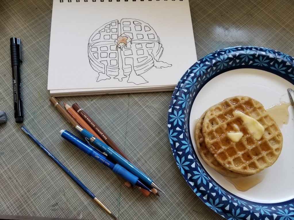 Note to self.. Never draw food when hungry. Lol! Waffles IMG_20200404_150739_92920200404_133159