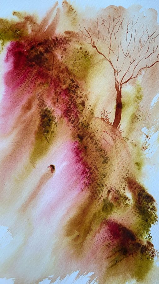 Abstract Landscape Watercolor Painting Jennifer Roberts