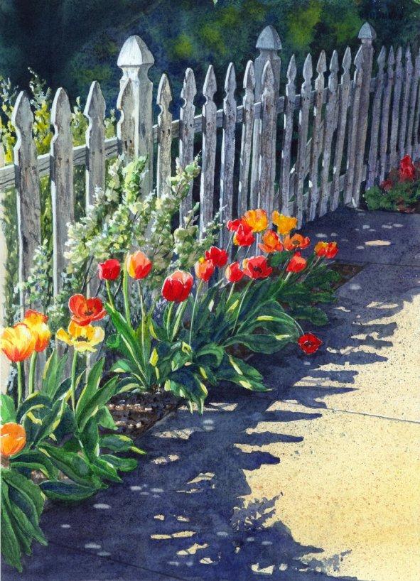Cheryl Johnson Watercolor Painting Gatekeepers