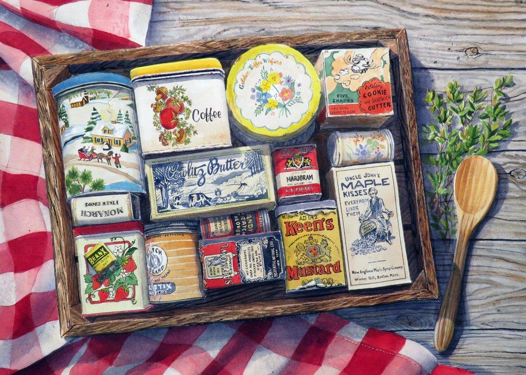 Cheryl Johnson Watercolor Painting Pantry Box