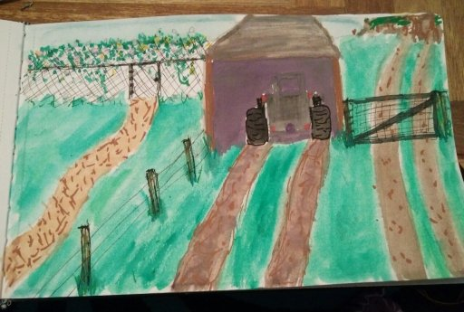 This one is done from memory. My grandmother's and uncle's farm in Tasmania. Use to spen