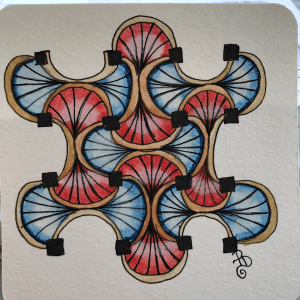 Being ambitious this year..doing the #100dayproject ..Here are day 1&2 Doing one day tangle and