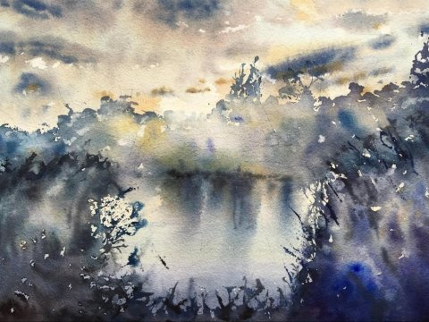 Atmospheric Watercolor Painting by Remy Lach