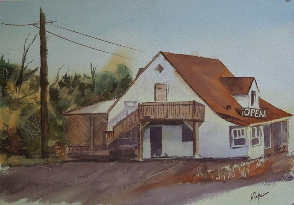 Full House Watercolor Painting by Manish Rajguru