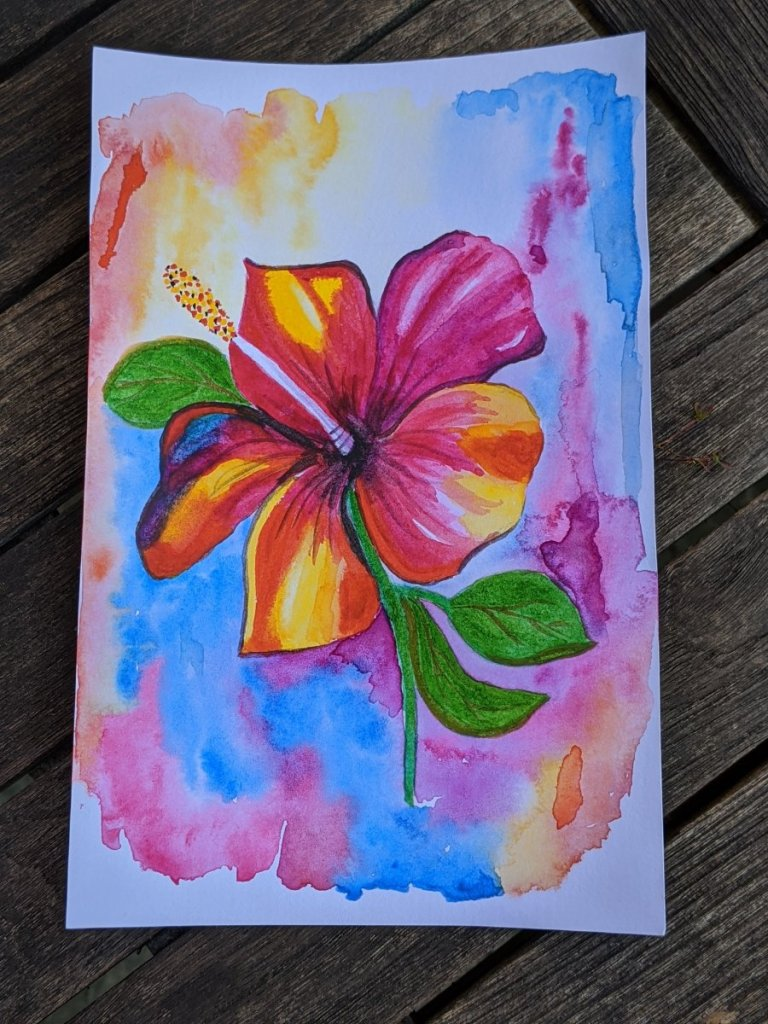 My most recent watercolour inspired by a post on Pinterest IMG_20200526_162349