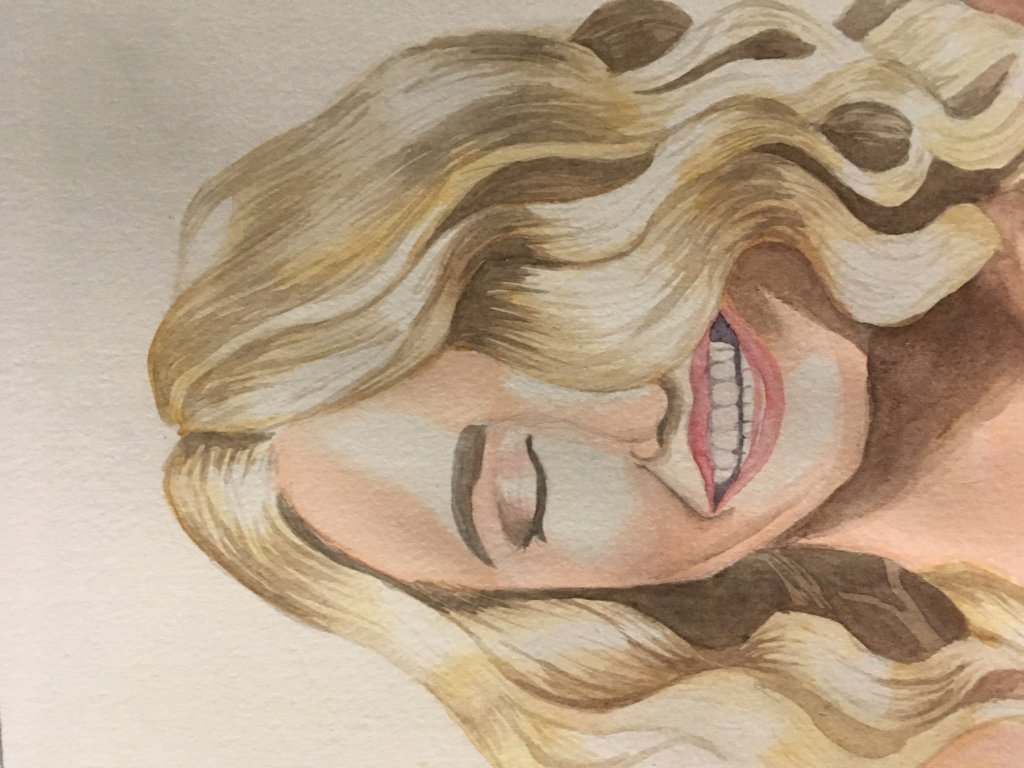 Day 19 blonde. Couldn't figure out how to make her not sideways IMG_2482