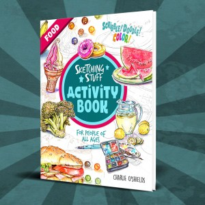 Sketching Stuff Activity Book Food Cover Promo