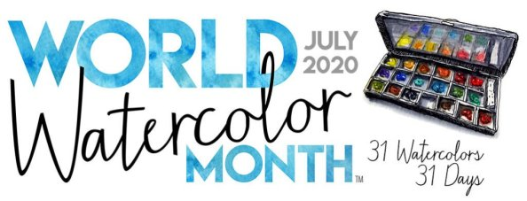 World Watercolor Month July 2020 Banner