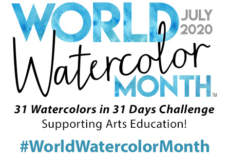 World Watercolor Month 2020 Logo For Dreaming Zebra Hashtag