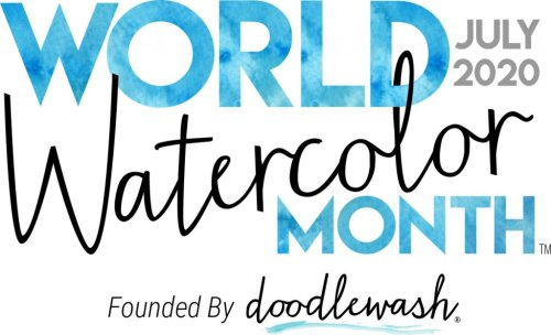 World Watercolor Month July 2020 Main Logo Doodlewash