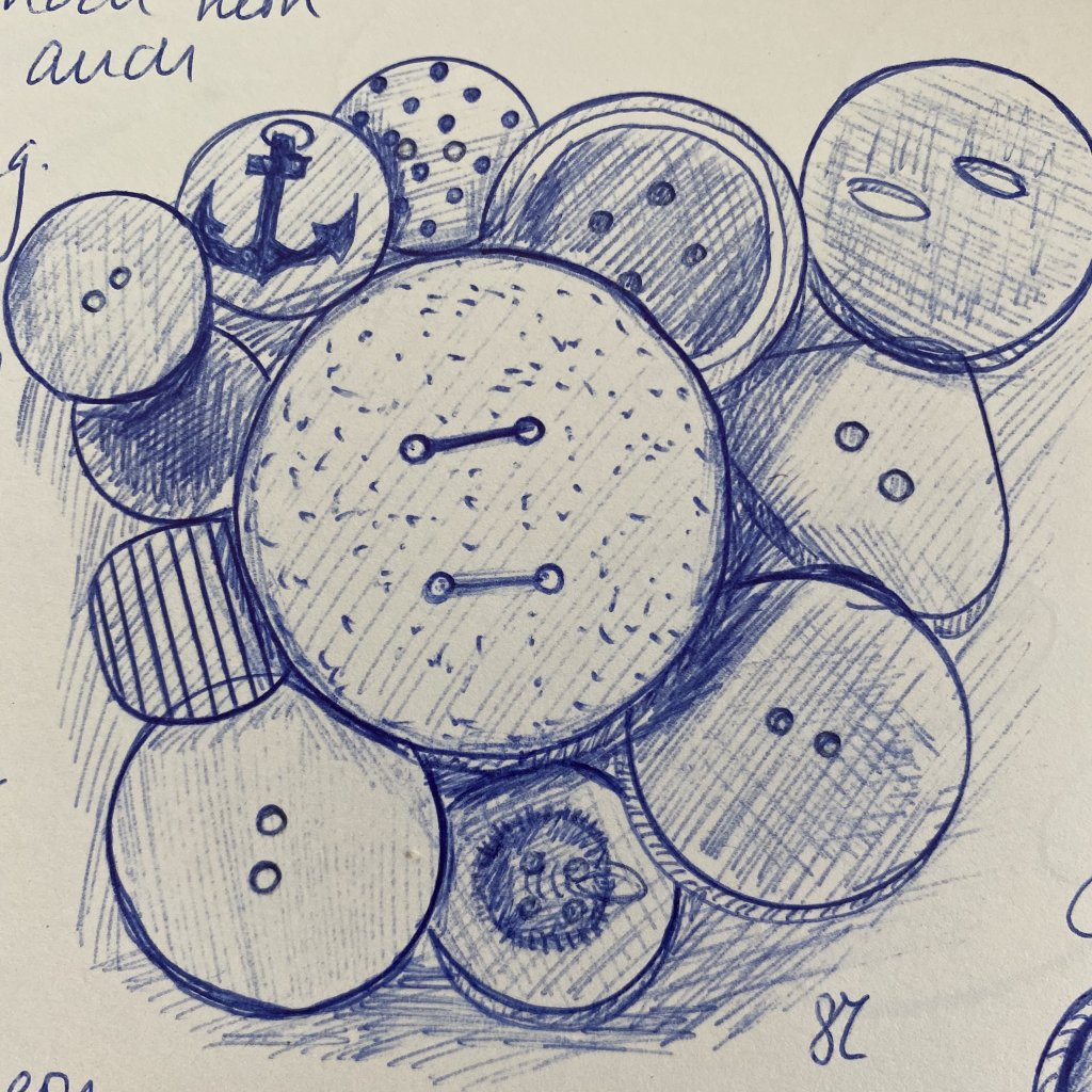 Here some buttons Drawn with ballpointpen. 134D7450-5D9A-4076-BA8D-7F8168C9938D