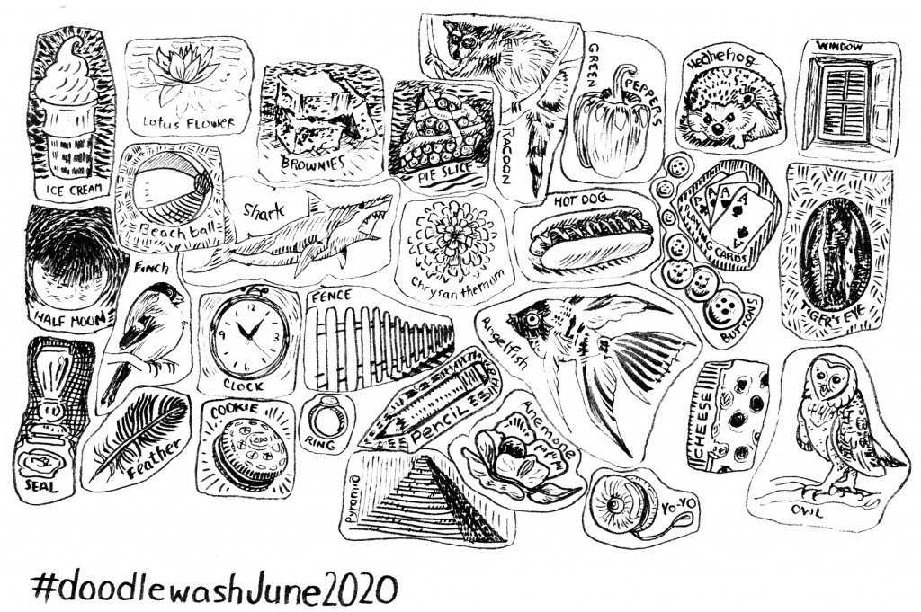 My collection of daily doodles done for the June Doodlewash prompts. I'll be reviewing this pa
