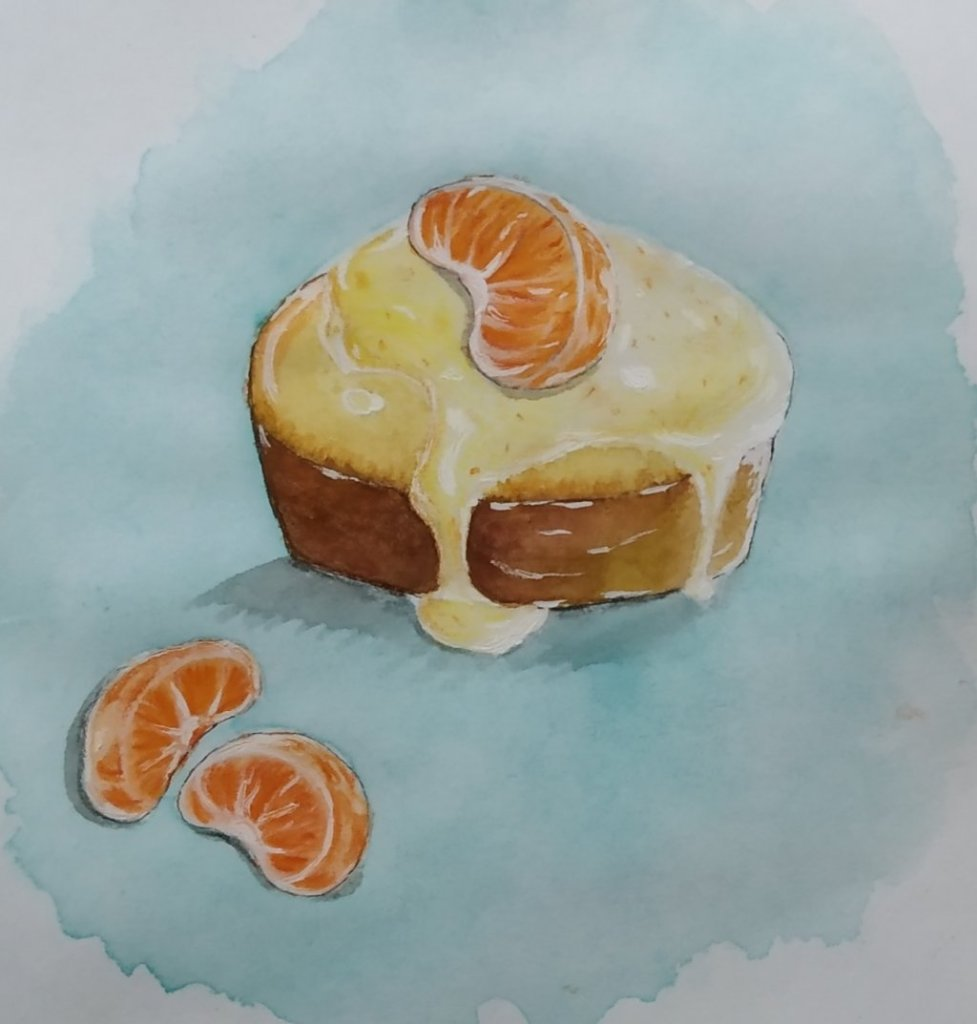 Last prompt The last one to post 🤪. Tried making a tangerine vanilla tea cake 😬 from