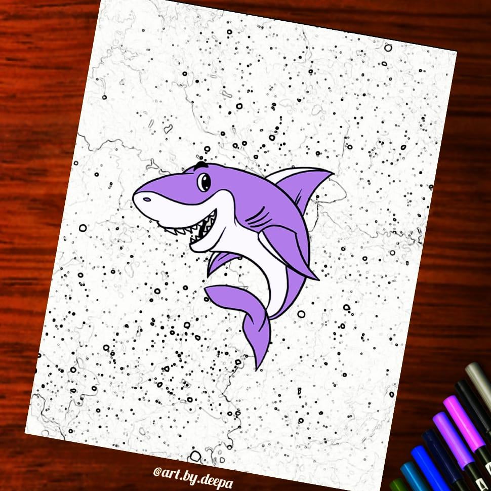 Day 5: Shark #doodlewashjune2020 IMG_20200605_214006_960
