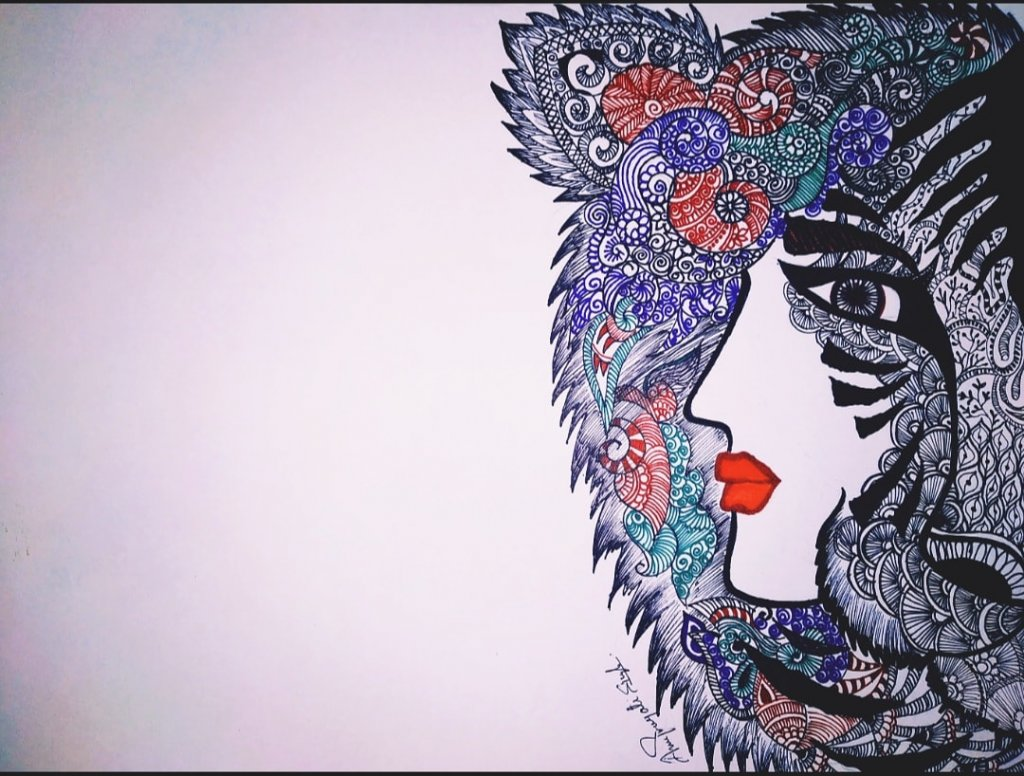 My new doodle art work… IMG_20200608_183849_895