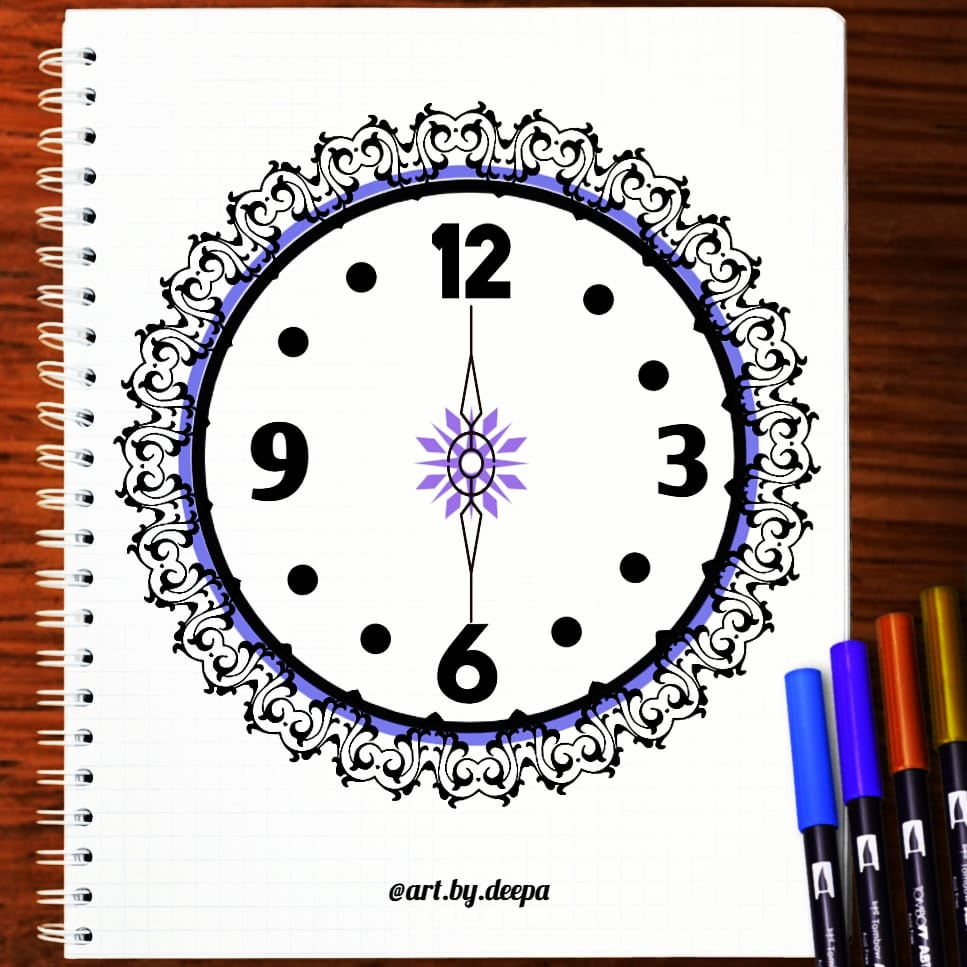 Day 11:Clock #doodlewash2020 IMG_20200611_212450_797