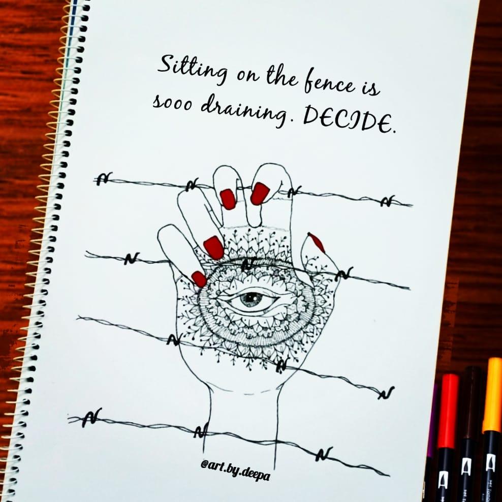 Day 12: Fence #doodlewashjune2020 IMG_20200612_213227_087