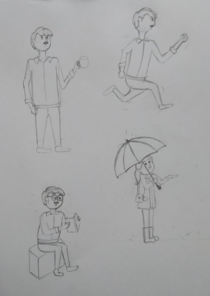 Sketching practise Attended the online workshop on Human Doodles by @mooddoodle, which was livestrea