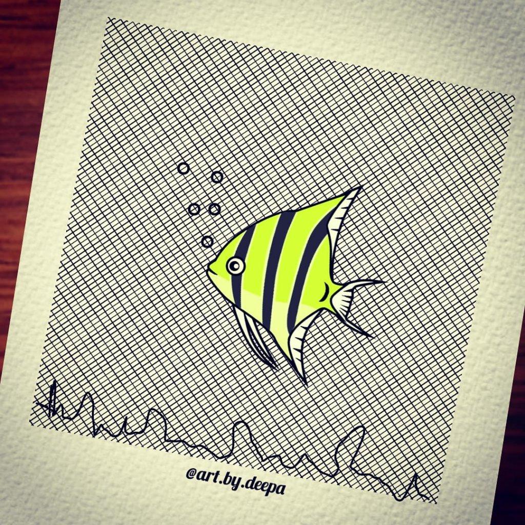 Day 14: Angel Fish #doodlewashjune2020 IMG_20200614_212805_040