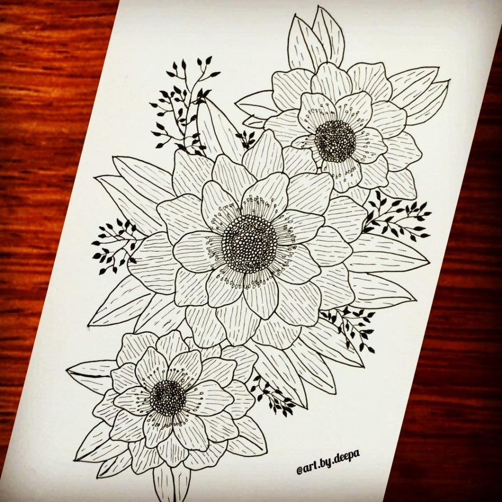 Day 17: Anemone #doodlewashjune2020 IMG_20200617_195947_554