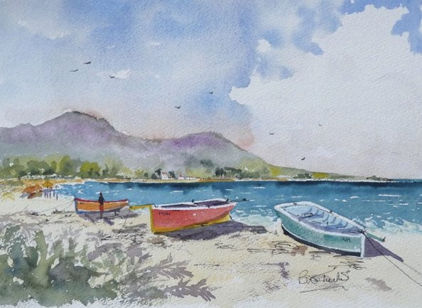 Mauritius Watercolour Painting Sketch