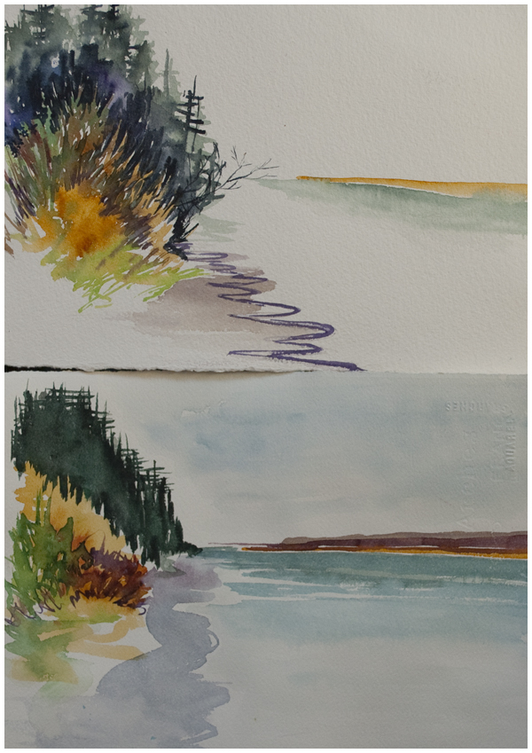 Watercolor Painting DO OVER approach first example Angela Fehr