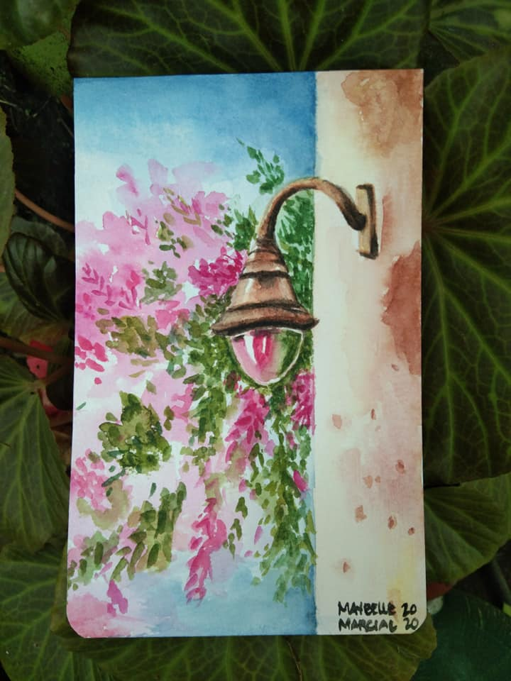 Sharing my latest watercolor painting hereeee. I came across a youtube video about watercolor painti