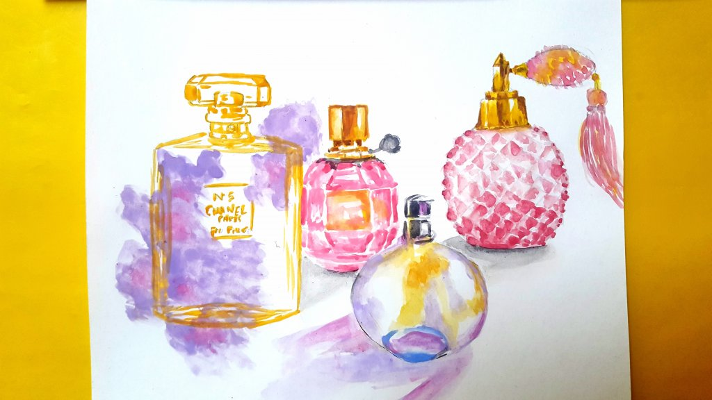 Day : 19 Topic : Favourite scent I love every scent so, i painted some of those. Video link : https: