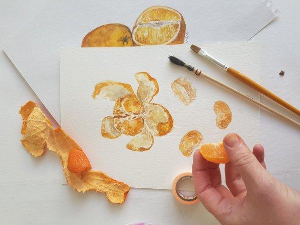 Oranges Watercolor by Jitka Zajíčková