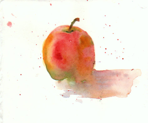 #WorldWatercolorMonth Day 9 prompt: Fruit Keeping the doctor away…….. Scan